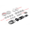 Frame Hole Caps Decor Cover 1 Set Aluminum For BMW R 1200 GS ADV LC (2013-2019) Silver