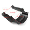 Stretched Rear Fender Extension For Harley Touring Street Road Glide (14-17) Gblack