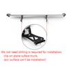 135cm Universal Hatch Adjustable Aluminum GT Rear Trunk Racing Spoiler Wing, Silver