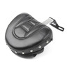 Driver Seat Rider Backrest Pad For Harley Fatboy FLSTF Heritage Softail (07-17) Chrome