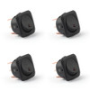 4PCS SCI 24mm 12V LED Round Rocker Switch ON/OFF for Car Van Dash Boat, Red