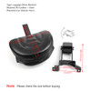 Plug-In Driver Backrest + Mounting Kit For Indian Chief Chieftain 2014-18 Black