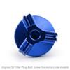 M20 Engine Oil Filler Plug Fill Cap Screw For Ducati 899 1199 1299 PANIGALE XDIAVEL S HYPERMOTARD SP 796 MONSTER 696 796 1100 EVO SCRAMBLER Blue