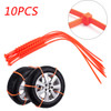 10PCS Snow Tire Chain Anti-Skid Belt For Car Truck SUV Emergency Winter Driving
