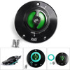 CNC Keyless Fuel Gas Tank Cap For Kawasaki ZX-6R ER-6F/6N Ninja 600 650 Green