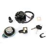 Ignition Switch Lock Fuel Gas Cap Seat Helmet Lock Keys Kit for Honda CL400 1999