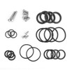 Upper Frame Plugs Caps Covers Set Aluminum For BMW R1200GS ADV LC 13-19 Silver
