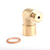 1PC M18X1.5 02 Bung Extension O2 Oxygen Sensor Angled Extender Spacer 90 Degree
