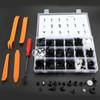 435PCS Car Body Trim Clips Retainer Bumper Rivets Screw Panel Push Fastener Kit