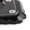 CNC Kickstand Side Stand Plate Extension Pad For BMW R1200GS LC 2017-2018 Black
