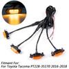 PT228-35170 TRD Pro Grille + LED Lights for Tacoma 2016-2019 Matte Black