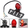 Rear License Plate Mount Holder Universal W Lamp Taillight Red