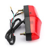 LED Red Brake Stop Running Rear Tail Light Lamp For Universal Motorcycle Red