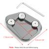 Kickstand Side Stand Extension Enlarger Pad For Honda CBR250RR 17-18 Titanium