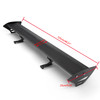 Hatch Aluminum GT Rear Trunk Wing Racing Spoiler For most of Hatchback Cars with a rear trunk Black