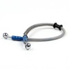 "45cm/18"" M10 Brake Oil Hose Line Banjo Fitting Stainless Steel End"