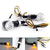 LED Mini Turn Signal Blinker Indicator Light For Honda BMW Harley Yamaha Suzuki Black