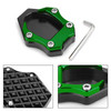 CNC Kickstand Side Stand Plate Extension Pad For Kawasaki Ninja 400 250 18 Green