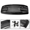 Front Black Big Horn Grille+Replacement Shell Fit for Dodge RAM 2500/3500 2006-2009 RAM 1500 2006-2008 Black