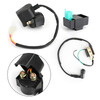 CDI Box & Ignition Coil & Starter Relay Solenoid For 50cc 90cc 110cc 125cc