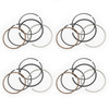 Piston Rings Pin Clips Set +0.50 For Yamaha FZR250R 89-94 FZX250 ZEAL 91-92