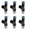 6Pcs Fuel Injectors For Jeep Commander 06-10 Grand Cherokee 05-10 Liberty 12-14 Black