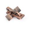 Vintage Alloy Puzzle Box Metal Lock Toys IQ Mind Brain Teaser Game Plane Lock