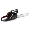 """62cc Chainsaw 22"""" Bar Powered Engine 2 Cycle Gasoline Chain Saw Red"""