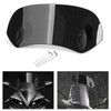 Universal 21CM Adjustable Clip On Windshield Extension Spoiler Wind Deflector Black