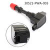 Ignition Coil 30521-PWA-003 For Honda Civic Hybrid Sedan 2003-11 1.3L Black