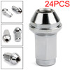 Stainless Lugs Nuts 24pcs 14x2 Fit For Ford F150 04-14 Expedition Navigator 03-14