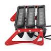 LED Motorcycle Headlight Fog Light Aluminum Fit For Honda MSX125 Grom 13-15 MSX125SF Grom 16-19 White Light+Red Bracket