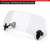 Universal Plastic Scooter Motorcycle Motorbike Front Windscreen Windshield Clear