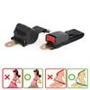 2 Point Retractable Auto Car Safety Seat Belt Buckle Universal Adjustable