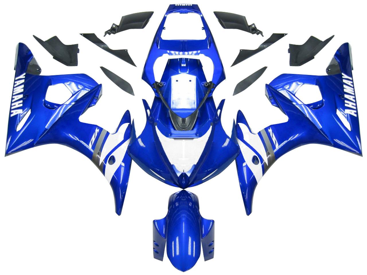 Fairings Yamaha YZF-R6 Blue White R6 Racing (2003-2005)