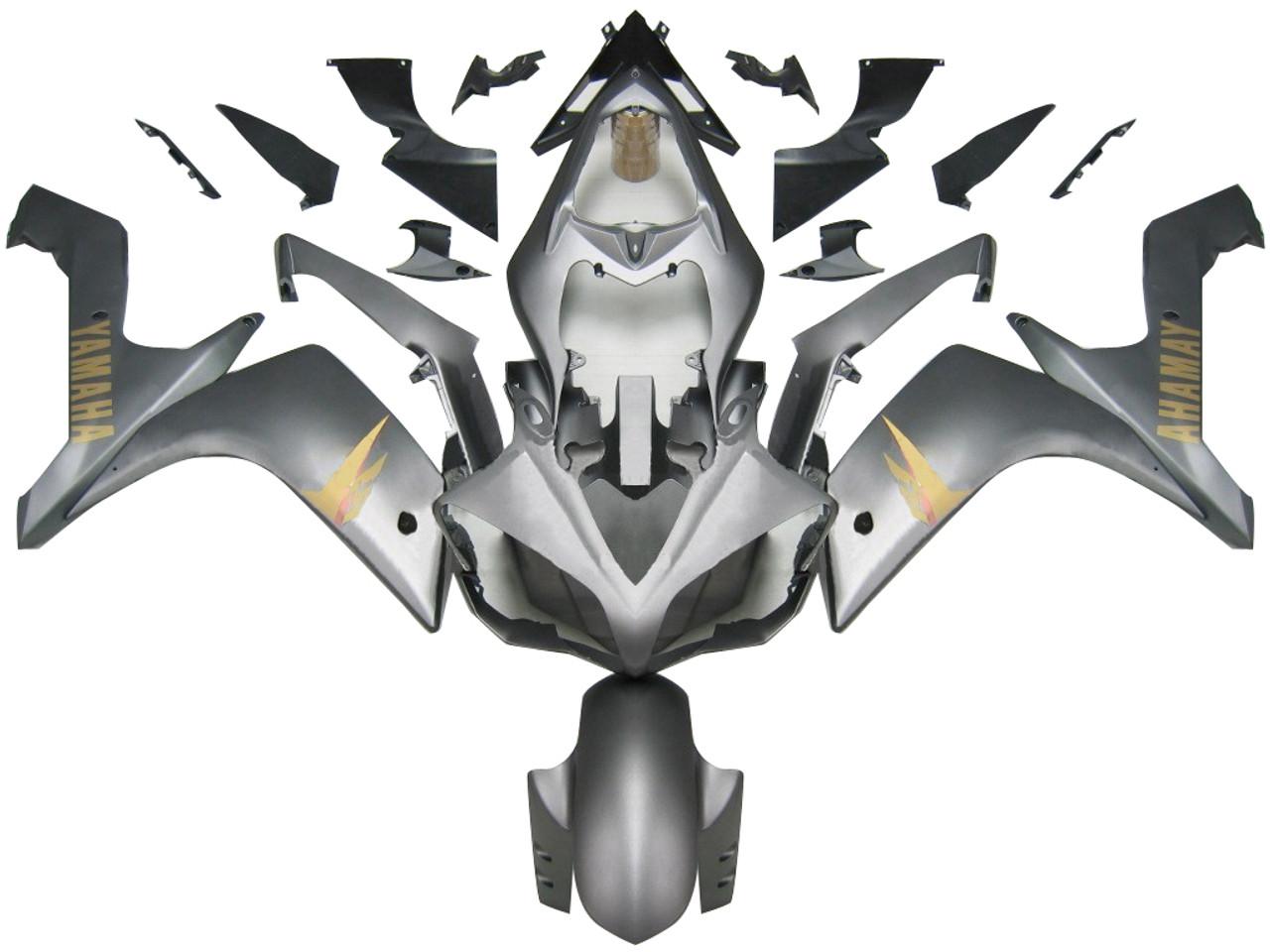 Fairings Yamaha YZF-R1 Silver Matte R1 Racing (2007-2008)