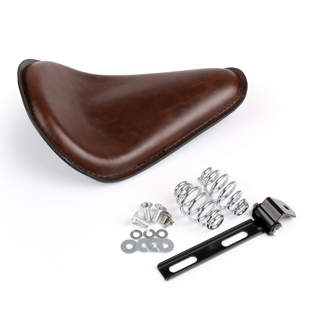 Solo Seat+Spring Mounting Bracket Kit For Harley Sportster XL 883 1200, Brown