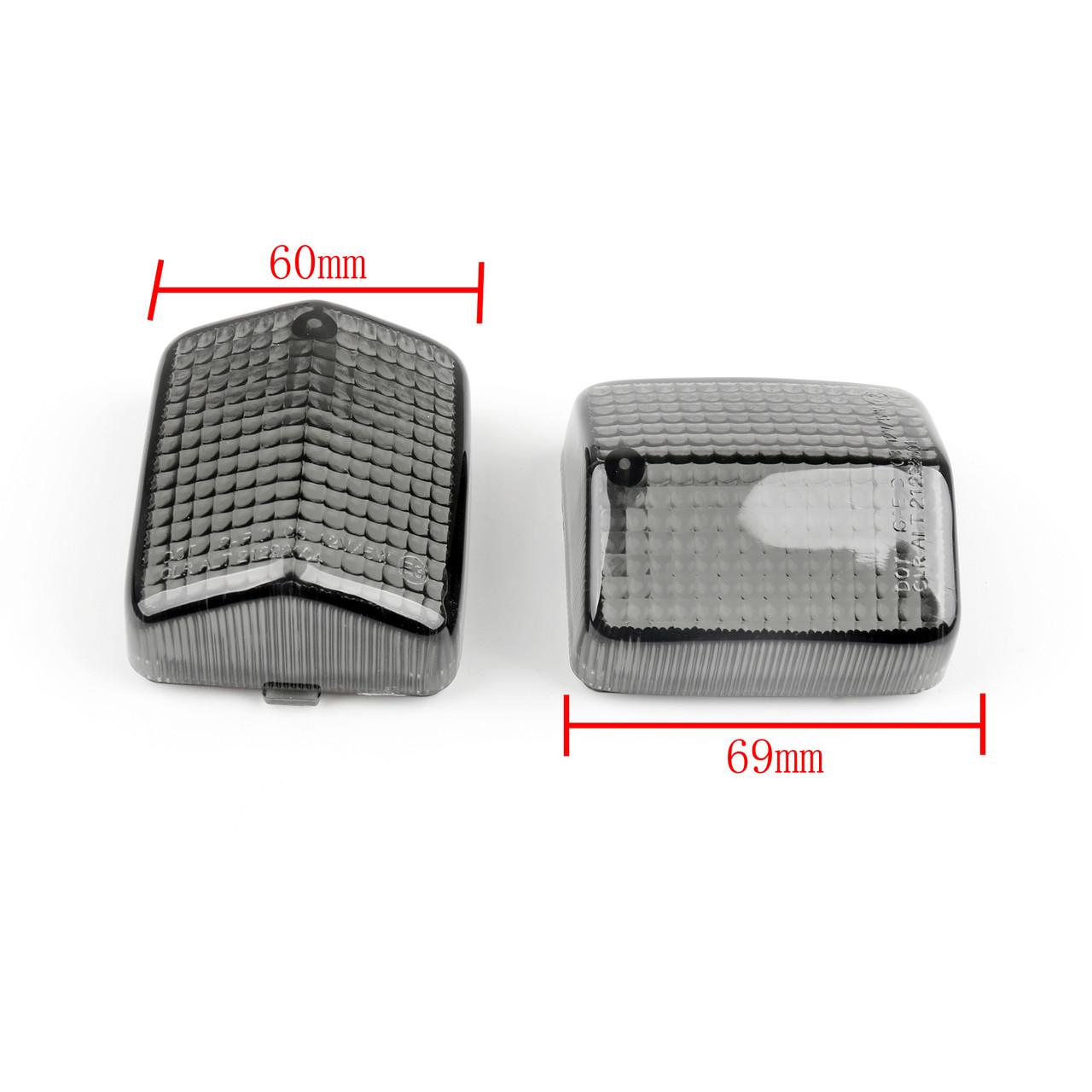 Rear Turn Signals Light Lenses HONDA CBR600 F2 F3 1991-1996 CBR1000 1987-1991 Black