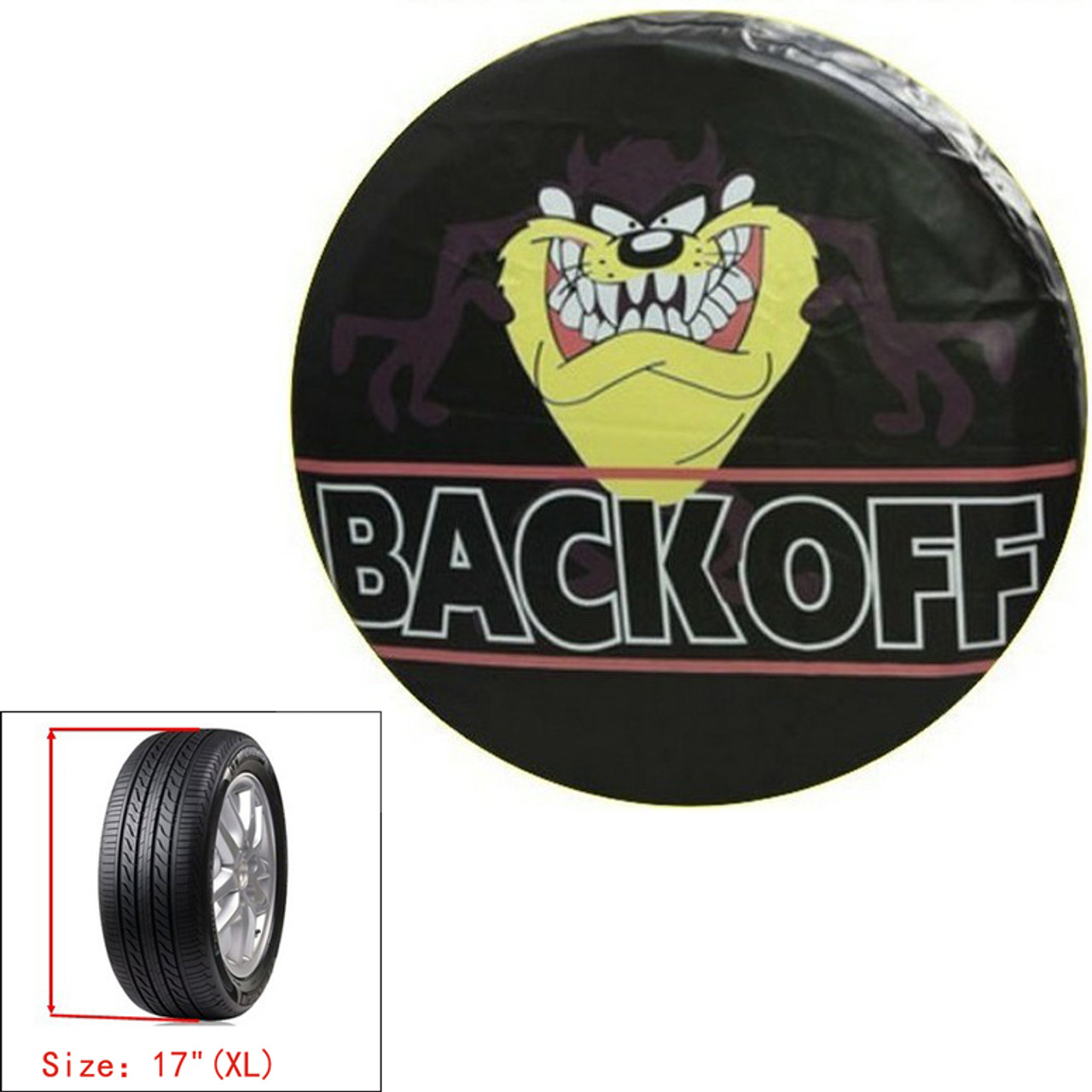 "17""  Spare Wheel Tire Tyre Pouch Soft Case Protector Car Tasmanian Devil Cover"