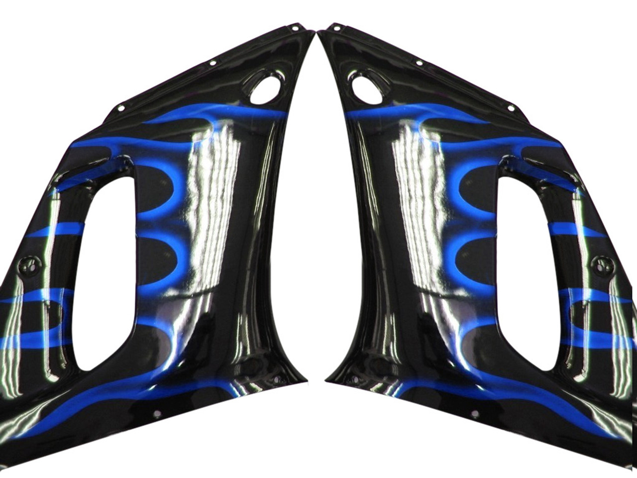 Fairings Yamaha YZF-R6 Black & Blue Flame R6 Racing (1998-2002)