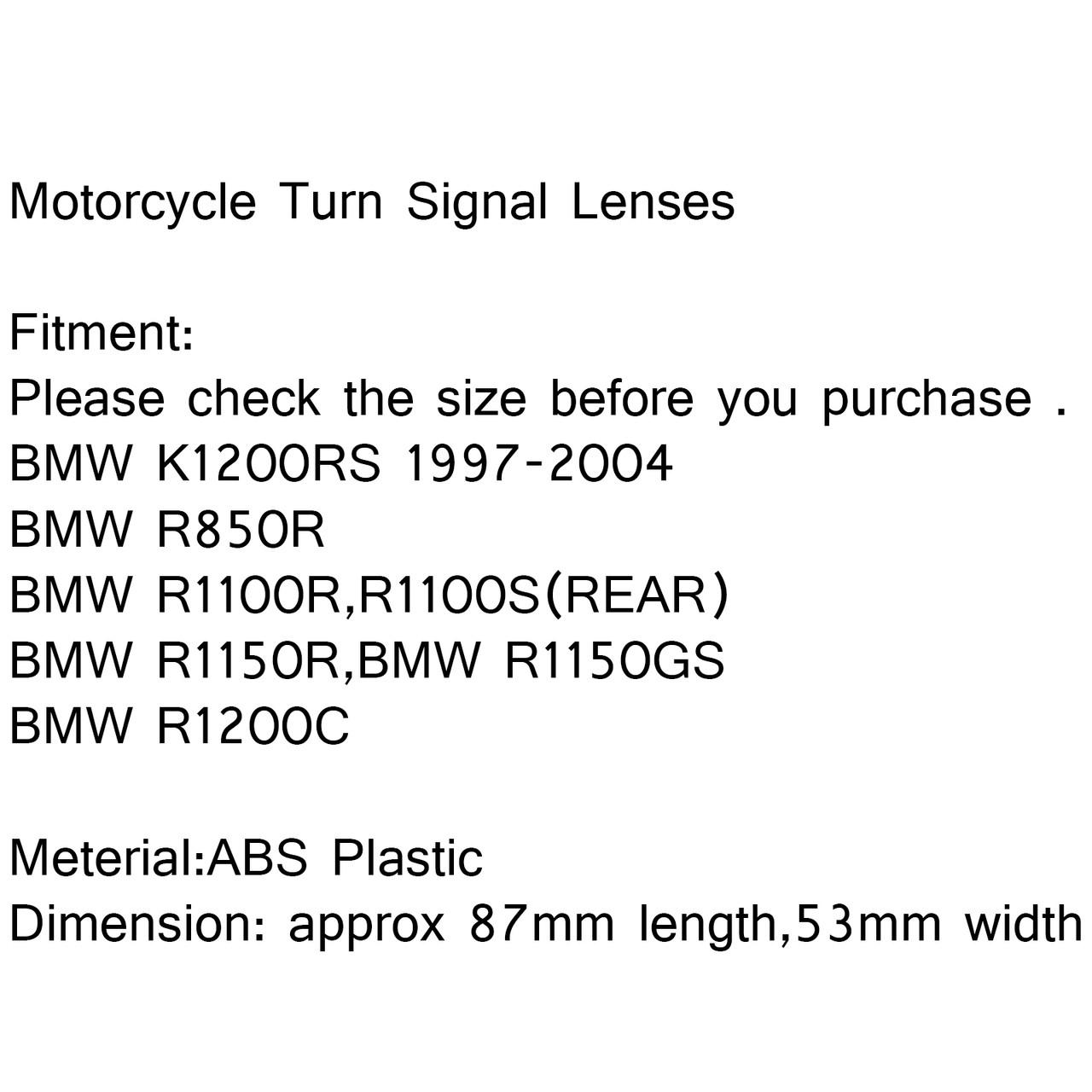 Front Turn Signals Light Lenses BMW K1200RS 1997-2004 R1150R R1150GS R1200C Black