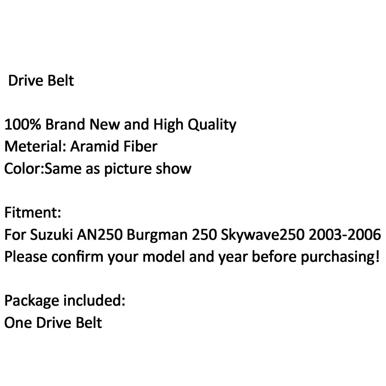 Scooter Drive Belt Suzuki AN250 Burgman 250 Skywave 250 2003-2006 (M510-A011-Black)