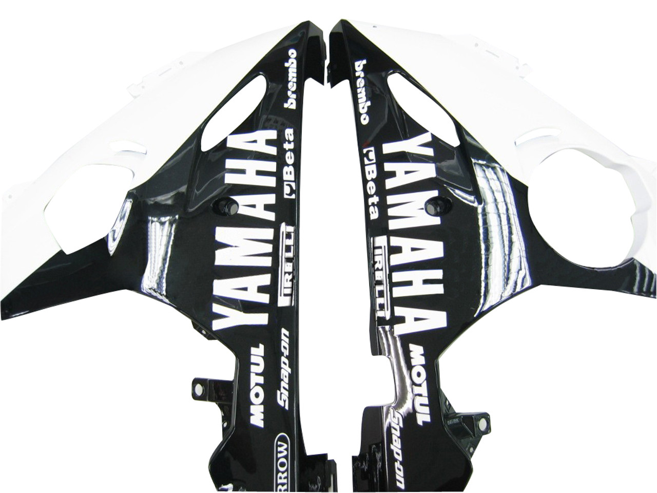 Fairings Yamaha YZF-R6 Black & White Tribal R6 Racing (2003-2005)