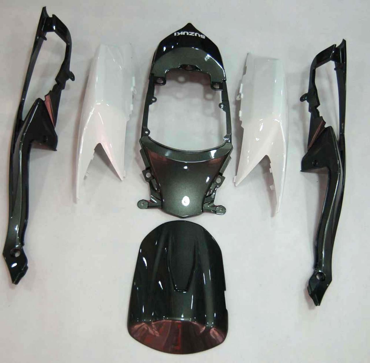 Fairings Suzuki GSXR 600 750 White & Silver GSXR Racing  (2008-2009-2010)