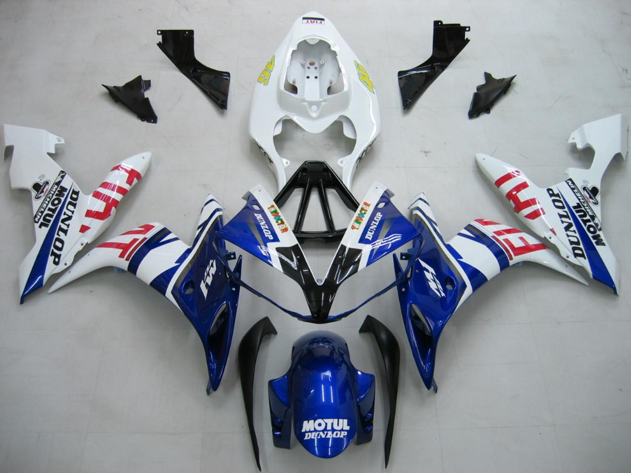 Fairings Yamaha YZF-R1 Blue White No.46 FIAT Racing (2004-2006)