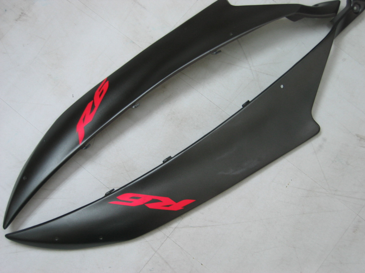 Fairings Yamaha YZF-R6 Black Matte Bridgestone R6 Racing (2006-2007)