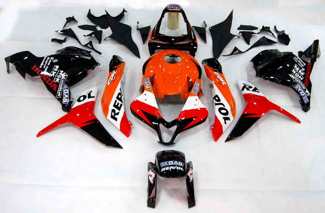 Fairings Honda CBR 600 RR Black & Orange Repsol Racing (2009-2012)
