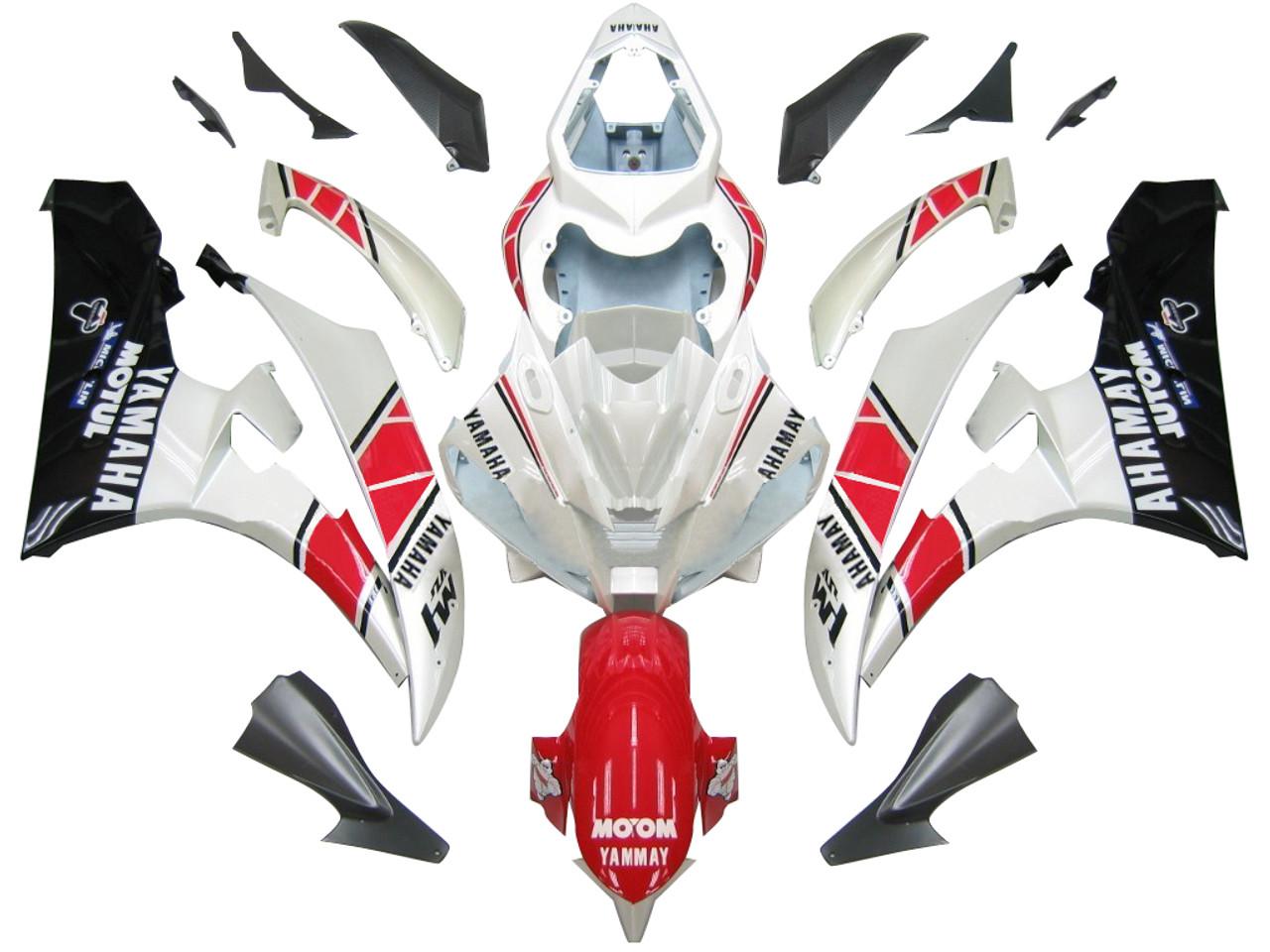 Fairings Yamaha YZF-R6 White Red Black R6 Racing (2006-2007)