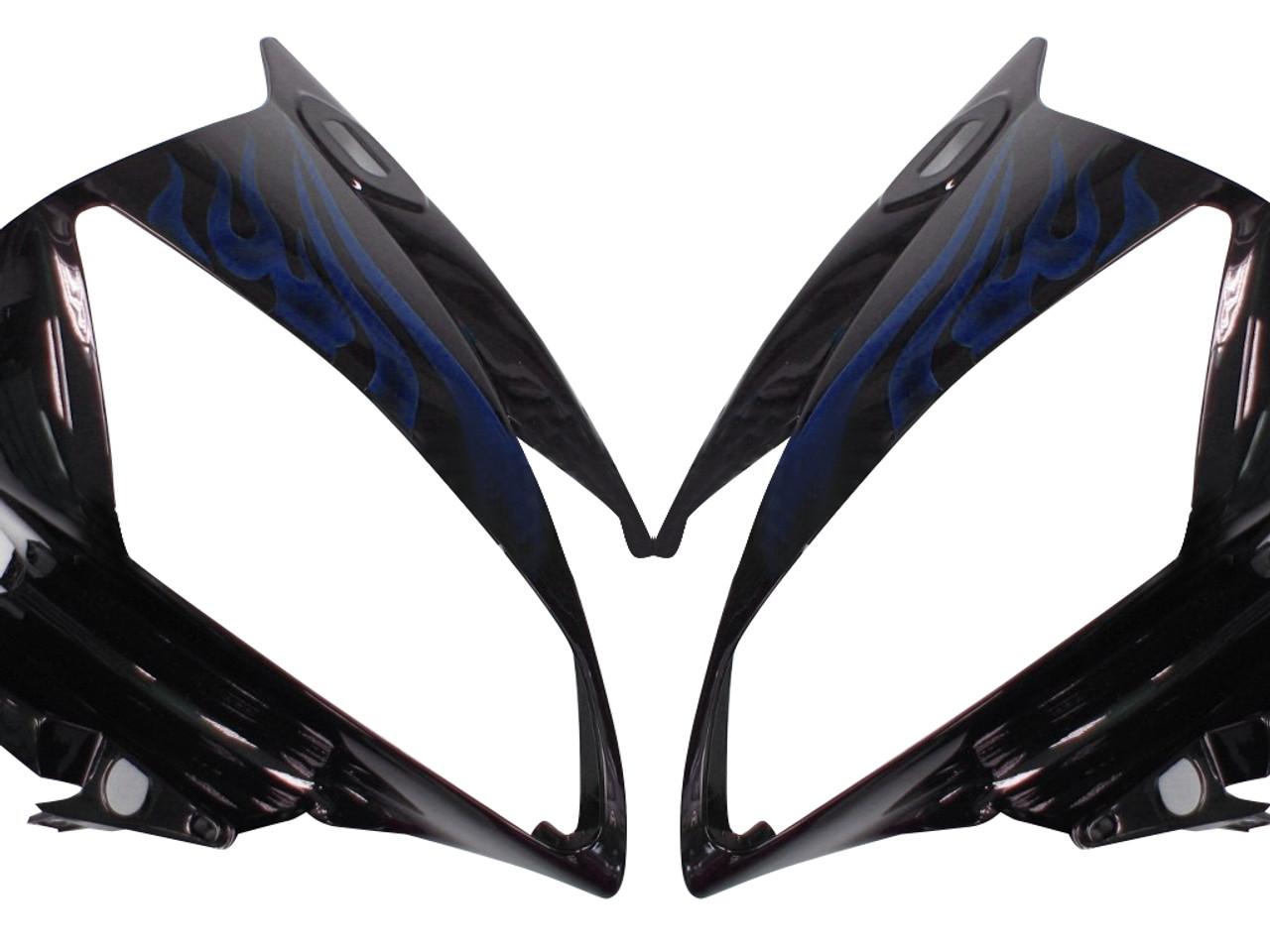 Fairings Yamaha YZF-R6 Black & Blue Flame R6 Racing (2006-2007)