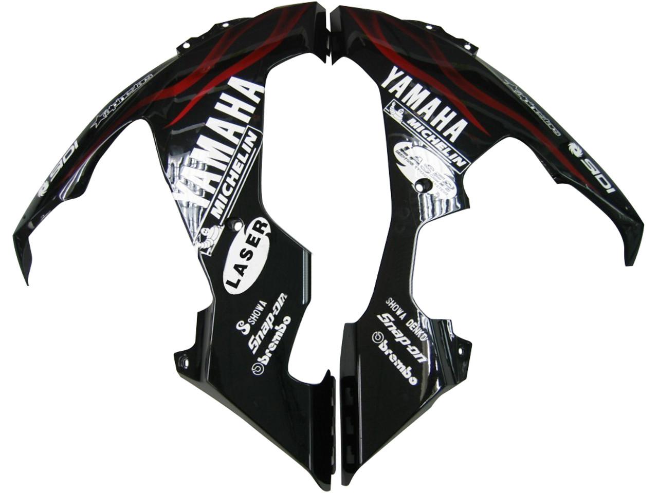 Fairings Yamaha YZF-R1 Black & Red Flame R1 Racing (2004-2006)